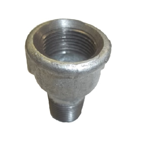 "Galvanized steel reduction 3/4""F x 1/2""M"